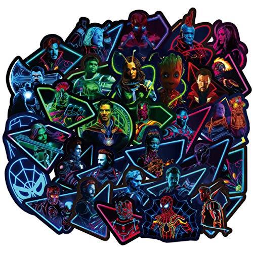 Pegatinas de superhéroe, 100 unidades, para botella de agua, monopatín, guitarra, equipaje, maletas, impermeables, vinilo, graffiti