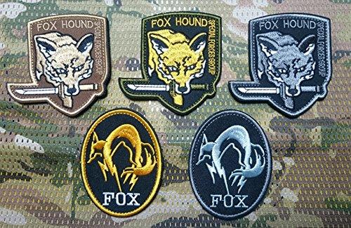 5点セット メタル ギア ソリッド フォックス FOX HOUND MGS スネーク パッチ 刺繍 ワッペン ベルクロ パッ...