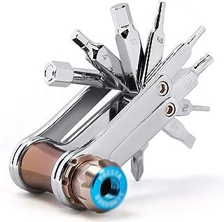 LLRYN 16-in-1 Bike Bicycle Tools Repairing Set Bike Repair Tool Kit Wrench Screwdriver Chain Carbon Steel Bicycle Multifun...