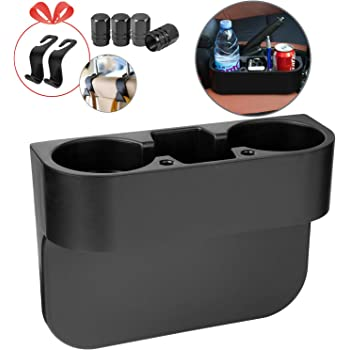 Homesprit Car Cup Holder with Phone Holder, Seat Gap Filler with Car Drunk Holder, Side Seat Cup Holder for Storing and Oranizing Car Drinking Cup Pocket Phone Etc