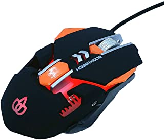 BODHiMECH Gaming Mouse GM-401, 4 Adjustable DPI, 7 Buttons, Breathing & Programmable Led Light, Wired USB Mouse for PC Gam...