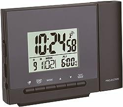 TFA Dostmann Reloj despertador inalámbrico con termómetro y pilas, color negro