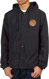 Santa Cruz Japanese Dot Hooded Windbreaker Jacket - Black