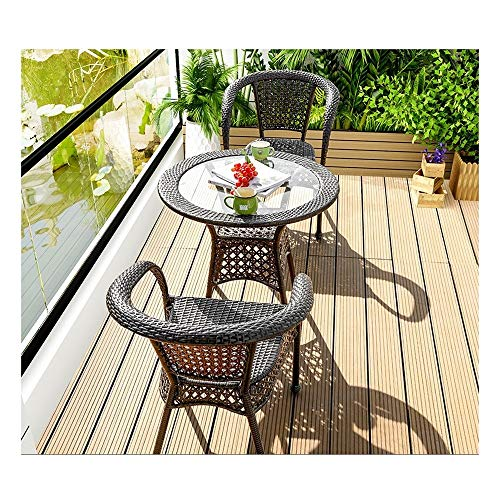 DYYD Rattan Garden Furniture Sets Patio Table and Chairs Sets Patio Conservatory Indoor Outdoor Coffee Table Patio Conversation Outdoor Garden Furniture Sets