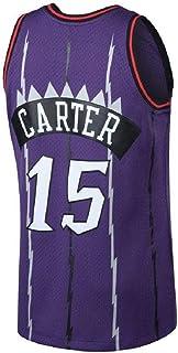 CONAWES Men's Carter Jersey Basketball Athletics Jerseys Retro Jersey 15 Purple(S-XXL)