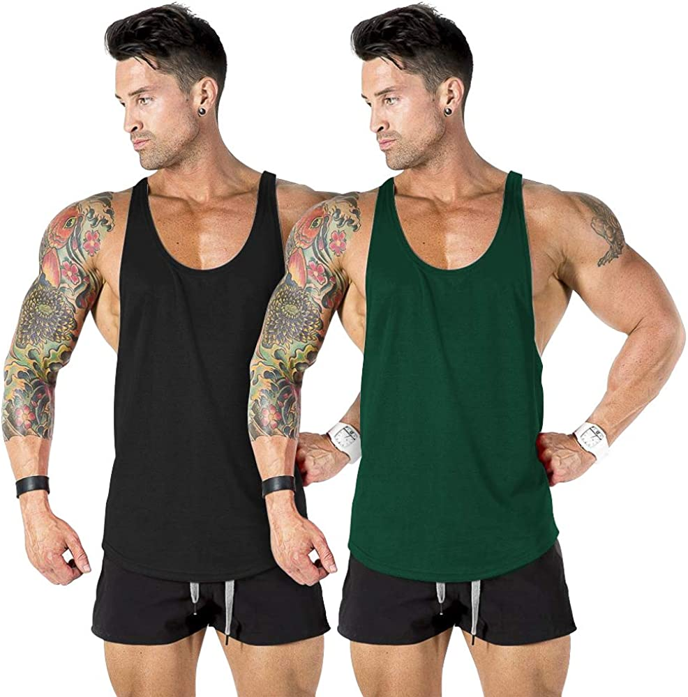 nine Choice bull Men's Gym Workout Bodybuildin Muscle Max 86% OFF Top Tank Stringer