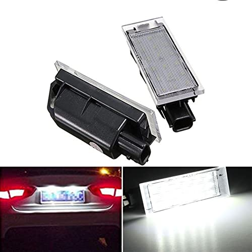 TUINCYN 18SMD License Plate LED Light Universally Used for Renault Twingo Clio Megane Lagane (Pack