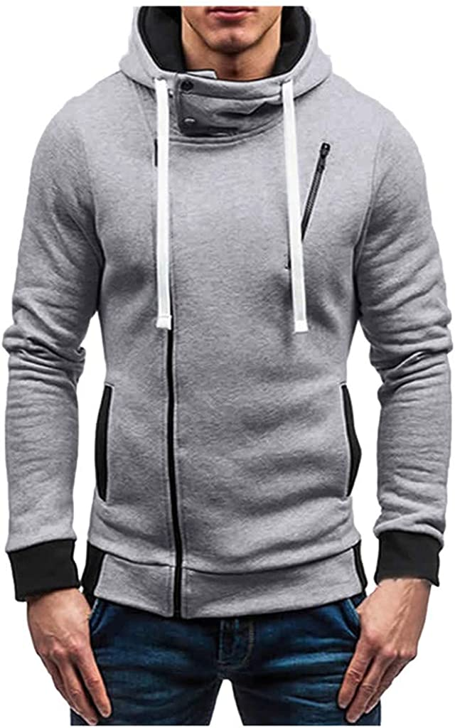 MODOQO Men's Zipper Pullover Sweatshirt Long Sleeve Soft Warm Hoodies Winter Outwear