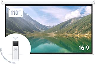 "Homegear 110"" HD Motorized 16:9 Projector Screen W/..."
