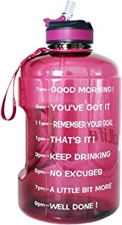 BuildLife Gallon Motivational Water Bottle Wide Mouth...