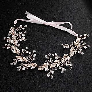 Nupcial hecho a mano de cristal aleación diadema pelo vid boda accesorios para el cabello - Rhinestone mujeres pelo joyería tocado de boda