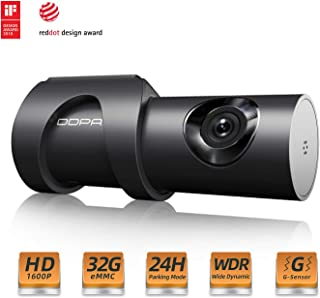 DDPAI 1600P HD Dash Camera Built-in 32g Storage Wi-Fi Wide Angle Dashboard Camera, Car DVR Vehicle Dash Cam with F1.8, WDR, Night Vision, G-Sensor, Parking Mode
