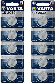 VARTA Batteri CR 2032 litium knappcell 3V batteri 10-pack