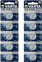 VARTA Batterien Electronics CR2032 Lithium Knopfzelle 3V Batterie 10er Pack Knopfzellen in Original 1er Blisterverpackung