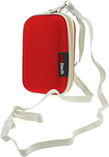 Navitech Red Hard Water Resistant Case/Cover for mp3 Digital Audio Player for SanDisk Clip Jam