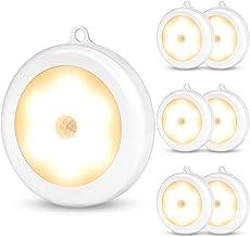 SALKING Bewegingssensor LED-verlichting binnen,6 Pack batterij aangedreven LED onder kabinet lichten, Stick-on magneet kas...