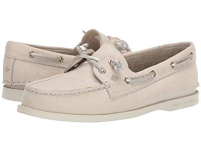 Sperry A/O Vida Croc Boat Shoe (Ivory) Women