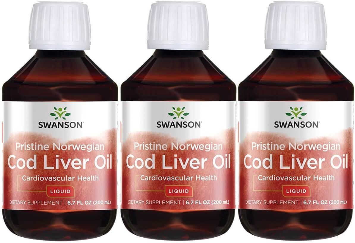 Swanson Pristine Norwegian Cod Liver Oil Liq 別倉庫からの配送 200 Ounce ml 授与 fl 7