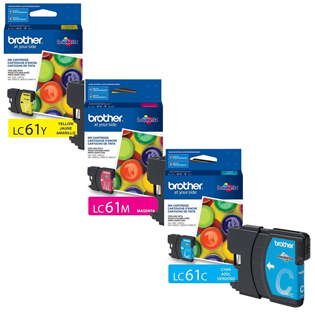 Brother LC-61 Standard Yield Ink Cartridge Set Colors Only (CMY)