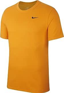 Nike Men's Dry Tee DFC Crew Solid, Black(Orange Peel/Black833), Large