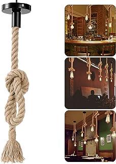 comprar comparacion LEDMOMO 1M Vintage Cuerda de cáñamo gruesa sola cabeza colgante de cáñamo lámpara de cuerda luces colgantes para el restau...