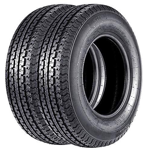 Set of 2 ST 225/75R15 Trailer Tires Radial 22575R15 Tires 225 75 15 10PR Load Range E