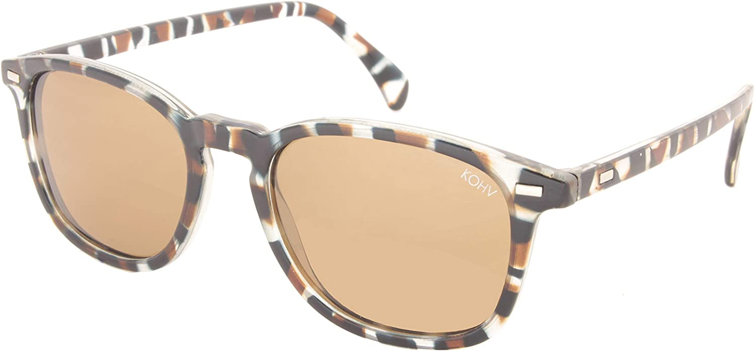 KOHV ''Bean'' Gloss bluee Tortoise Polarized Brown Sunglasses  Quality Eyewear for Men & Women, Affordable Men's Sunglasses or Women's Sunglasses