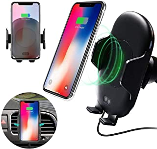 C10 Qi Wireless Charger Infrared Motion Sensor Car Air Vent Phone Mount Holder