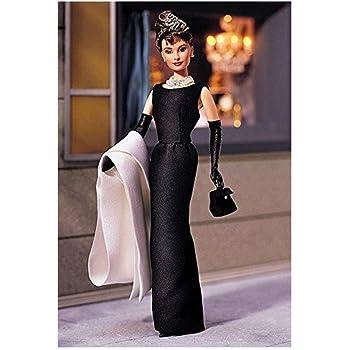 """バービー人形1998年オードリー·ヘップバーン """"ティファニーで朝食を"""" 黒のドレス"""