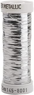 Sulky Of America 215d 40wt Sliver Metallic Nylon/Polyester Thread, 250 yd, Silver