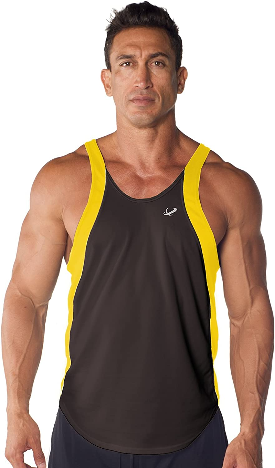 Mens Athletic Dri-fit Two-Tone Stringer by Tank Top Popular product half Pitbull