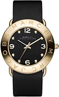 Marc by Marc Jacobs Amy Women's Black Dial Leather Band Watch - MBM1154