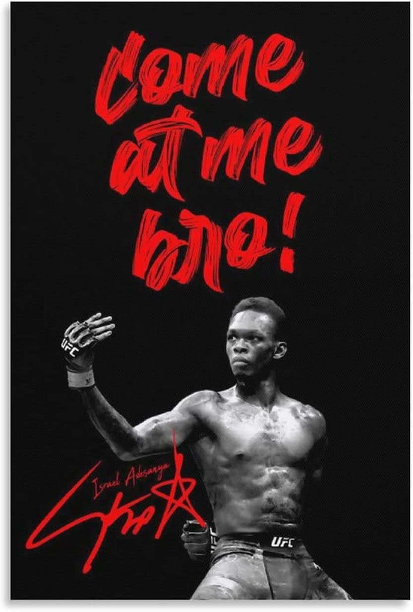 penggao UFCl MMA Israel Adesanya Adornment Long Beach Mall 5% OFF Poster Picture Painti