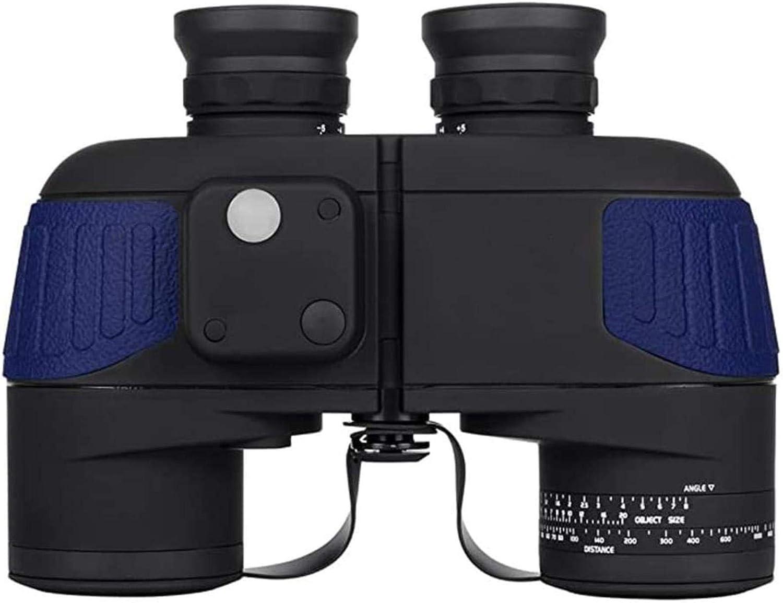 J-Love Binoculares visión Nocturna 10X50 para Adultos Binoculares a Prueba Agua a Prueba Niebla con telémetro brújula BAK4 Lente Prisma para Deportes acuáticos, observación Aves
