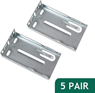 Probric Brackets For Rear Mount Drawer Slides For Cabinet With Frame 5 Pair