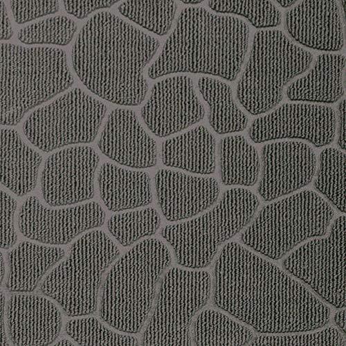 douceur d'intérieur tapis d'entree rectangle 45x75 cm pvc galets gris