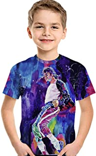 Tsyllyp Kids Boys Girls Fashion 3D T-Shirt Michael Jackson Print Tee Shirts Tops