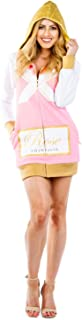 Women's Rosé Champagne Costume Dress w/Pockets - Mimosa Halloween Costume for Ladies
