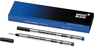 Montblanc Rollerball Refills (M) Pacific Blue 105159 / Quick-Drying Pen Refills for Montblanc Rollerball and Fineliner Pens / 2 x Dark Blue Pen Cartridges