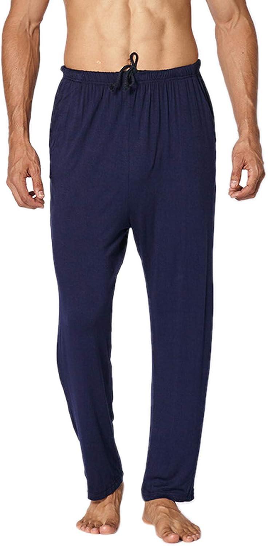 WSLCN Men's Pajama Pants Modal Lounge Pants with Pockets Soft Sleep Pj Bottoms