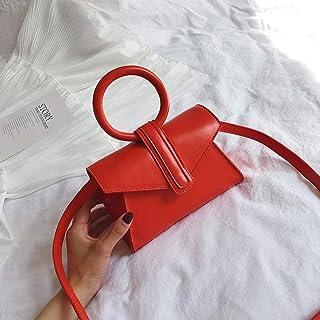 LIMING Fairy small bag female tide girl small shoulder bag handbag shoulder small square bag women bag,Colour:red (Color :...
