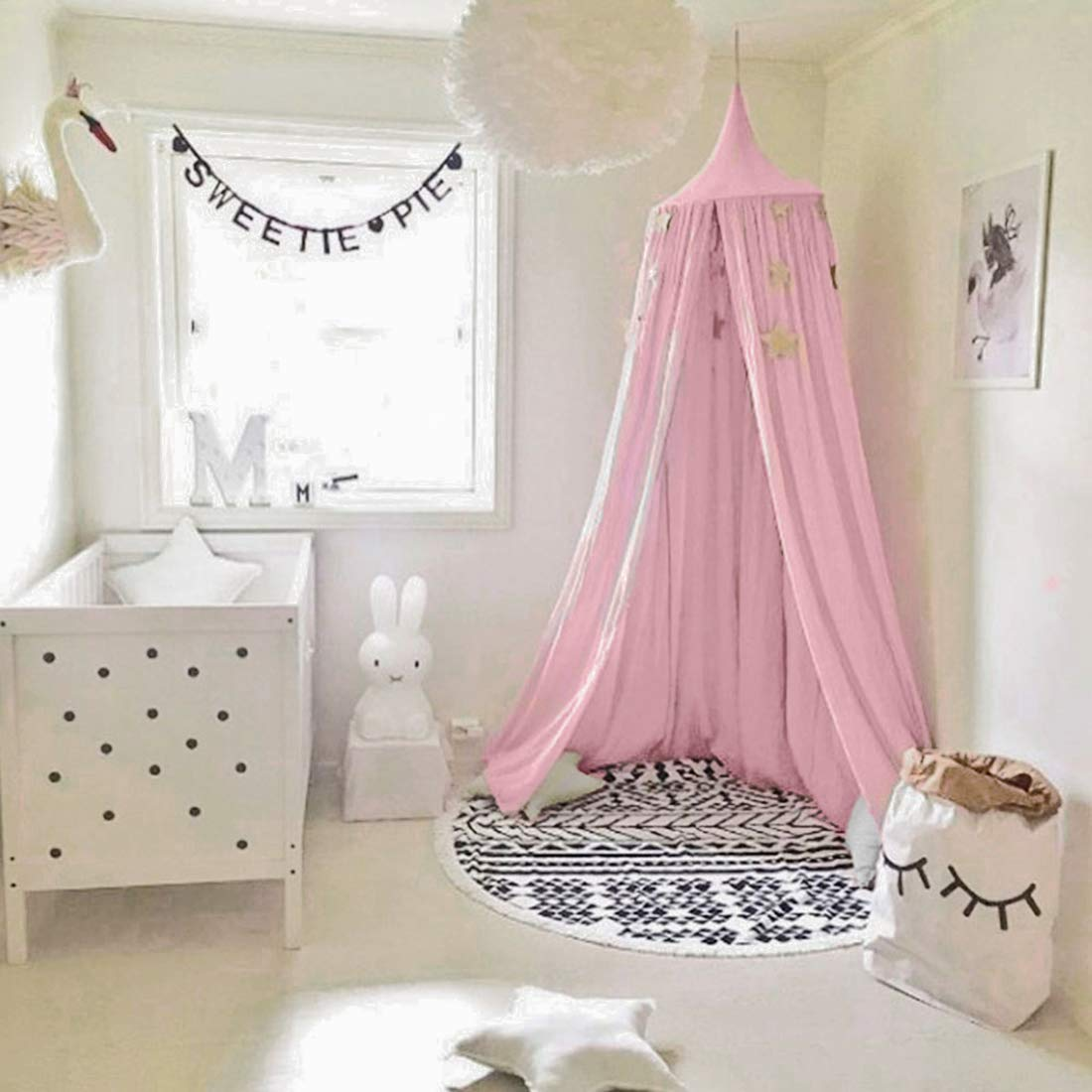 Bed Canopy for Children Cotton Mosqutio Net Hanging Curtain Baby Indoor Outdoor Play Reading & Princess Bed Canopy: Amazon.co.uk