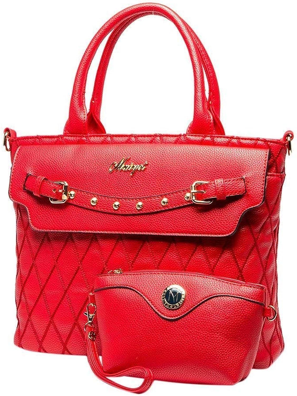 Bloomerang Classic Women PU Leather Lattice Handbag Shoulder Bag Tote Crossbody Bag blosa color ZD333903ALL11