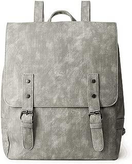Daypacks Women Vintage PU Leather Backpack Purse Shoulder Bag Lightweight Water Resistant Schoolbag Cheap Backpack (Color : Gray)