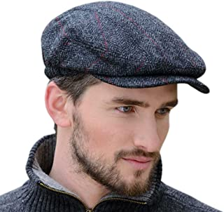 Wool Flat Cap, Traditional Style, Made in Ireland, Gray
