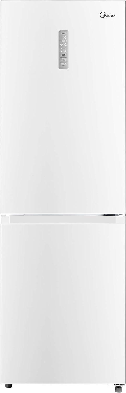 Midea KG7.20W - Frigorífico Combi Blanco A++ - No Frost - Libre Instalación - Frigorífico de Gran Capacidad 216 L + 104L Congelador - Control de temperatura táctil - Alto: 1.86m - Ancho: 60cm