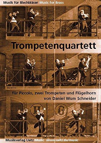 Kwartett Wum5: voor Piccolo, 2 trompetten en vleugelhoorn partituur en stemmen