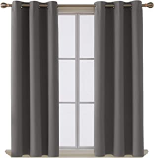 Deconovo Room Darkening Thermal Insulated Blackout Grommet Window Curtain for Living..