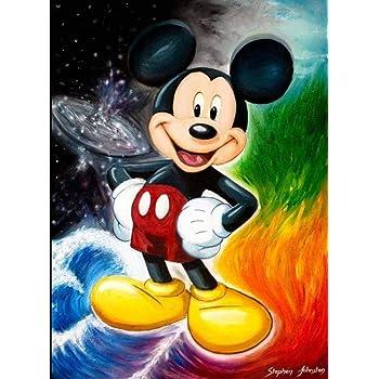 5D Diamond Painting Cartoon Mickey Mouse Pattern Full Square Drill Mosaic Diamond Embroidery Cross Stitch Kits Home Wall Decor Gift 40cm X 30cm