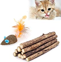 Mumoo Bear Cat Catnip Sticks Natural Matatabi Silvervine Sticks, 20 Pieces, Light Brown